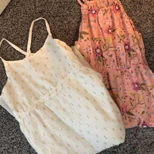 2 casual maxi youth (girl) tank dresses